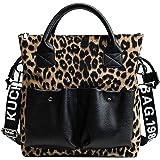 RFVBNM Damenhandtaschen Leopardenmuster große Umhängetaschen PU Leder Schultertasche mode Henkeltasche