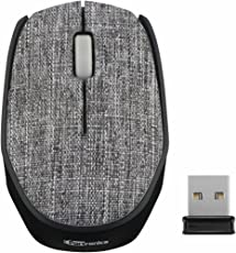 Portronics POR-829 Fabrik Wireless Mouse Designed to Operate at 2.4GHz Technology Connected with The Any PCs, Laptops or Mac Books with Unique Cotton Cloth Fabric
