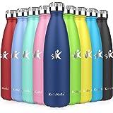 KollyKolla Gourde Inox Isotherme - 350/500/650/750ml, Bouteille d'eau Acier Inoxydable à Double Paroi Reutilisable Gourdes Sa