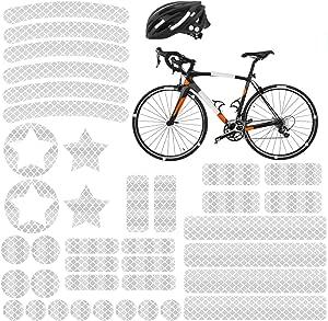 Hi-Vis réfléchissant Autocollants vélo cyclisme réflecteur de sécurité Haute Viz