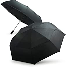 Becko Black Automatic Double-canopy Wind-proof Golf Rain Umbrella