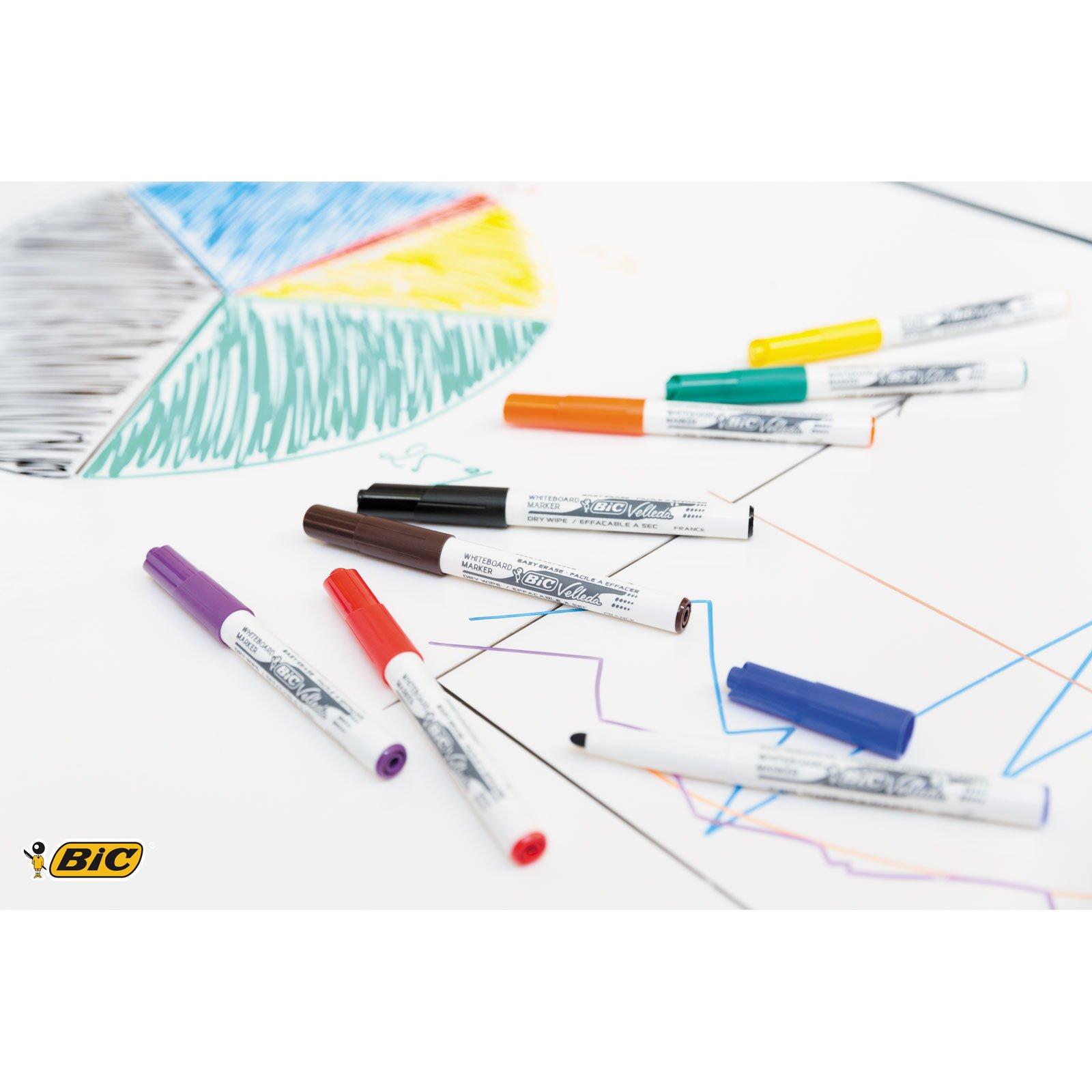 BIC Velleda Paquete de 4 multicolor 1 marcadores para pizarra blanca