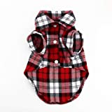 Mumoo Bear Dress Clothes Flannel style Shirt Vest Costume for small Dog Puppy Cat - Size M