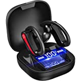 Ecouteur Bluetooth 5.1, Écouteurs sans Fil Sport IPX7 Etanche Oreillette Bluetooth CVC 8.0 Antibruit Casque avec Micro Intégr