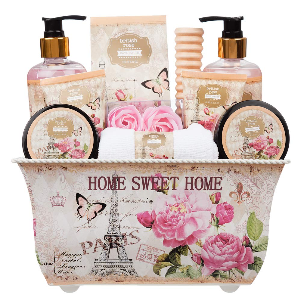 7163a80180236 10 Piece Ladies Stylish Chic British Rose Body   Bath Spa Gift Set ...