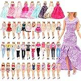 Miunana 21 Pezzi Selezionati A Caso per 28 - 30 CM / 11.5 Pollici Principessa Bambola: 5 Vestiti alla Moda + 5 Abiti + 5 Pant