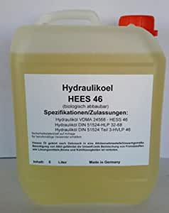 East Germany Oil Bio Hydrauliköl Hees 46 Kanister 5 Liter Auto
