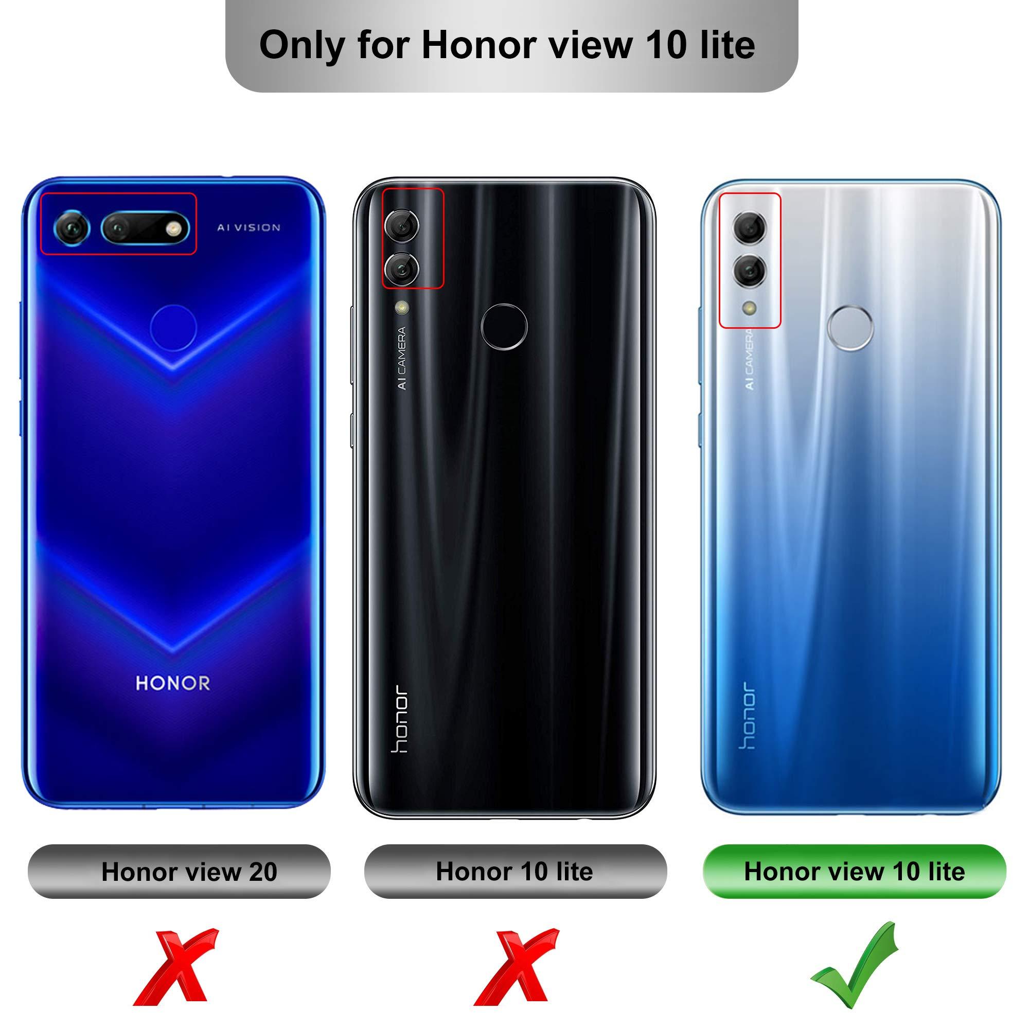 negozio online 8b416 13f1c iBetter Cover Honor View 10 Lite, Honor 8X Custodia, Honor View 10  Lite/Honor 8X Protettiva Custodia, Protezione Durevole, Compatibilita  esatta per la ...