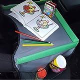 Flyfun Kinder Reisetisch Kindersitz Spiel Tragbar Tablett Knietablett Reisetisch Mit 5 Zeichenpapier 6 Farbstifte Spieltisch Autositz Tisch Für Buggys Kinderwagen Auto Flugzeug Bahn Baby