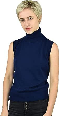 1stAmerican Gilet Dolcevita 100% Puro Cashmere Made in Italy da Donna - Finezza 12