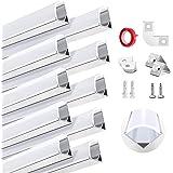 HOMMAND 10 pack x 1m / 3.3ft LED aluminium kanaal, LED strip kanaal en diffuser, LED strip afdekking met eindkappen, montage