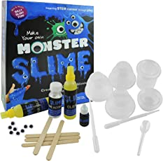 Ekta Monster Slime Lab   Non-Toxic   Toy for 8 Years   Slime Lab kit   Do-it-Yourself