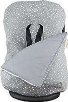 JANABEBE Funda + saco para silla de coche grupo 0 universal, (White Star)