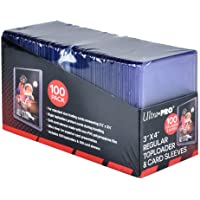 """Ultra Pro 3"""" x 4"""" Clear for Collectible Trading Cards (Includes toploaders and 100 Sleeves) Lot Pochettes Transparentes…"""