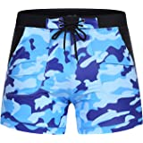 COOFANDY Men's Swim Trunks Summer Beach Swimwear Camo Quick Dry Surfing Shorts with Pockets