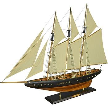 126cm Batela Holz Modell Segelyacht Columbia Red