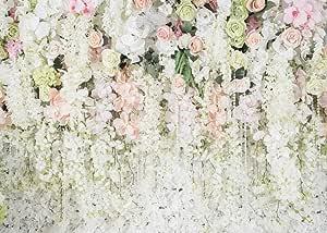 Weiße Blume Hintergrund Vorhang Blumen 3d Blume Kamera