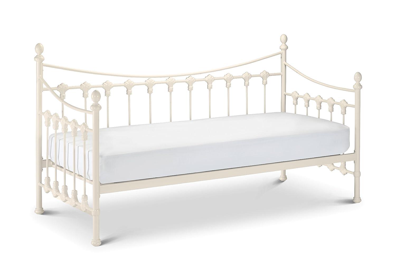 White Single Bed Uk Part - 44: Julian Bowen Versailles Daybed - Single, Ivory Coating: Amazon.co.uk:  Kitchen U0026 Home