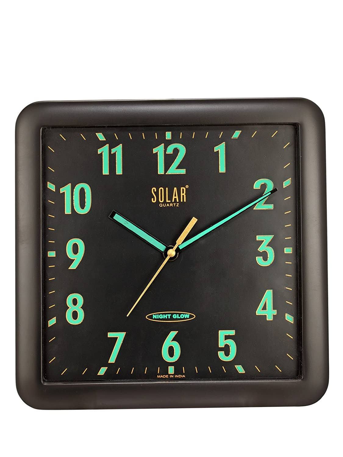 Solar night glow plastic wall clock 29 cm x 29 cm x 5 cm white solar night glow plastic wall clock 29 cm x 29 cm x 5 cm white amazon home kitchen amipublicfo Images