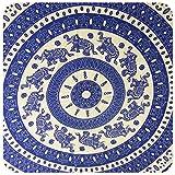Sarong Pareo Wickelrock Wickeltuch Strandtuch Handtuch Stola Tuch Schal Badebekleidung 140x120 cm (Blau)