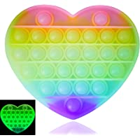 Luximi - Pop IT Fluo Coeur - Fidget Toy - Popit Jeu Anti Stress Enfant Adulte - Arc en Ciel - Push Pop Bubble - Jouet…