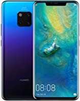 Huawei Mate 20 Pro 128 GB 6.39-Inch 2K FullView Android 9.0 SIM-Free Smartphone with New Leica Triple AI Camera, Single SIM, UK Version - Twilight