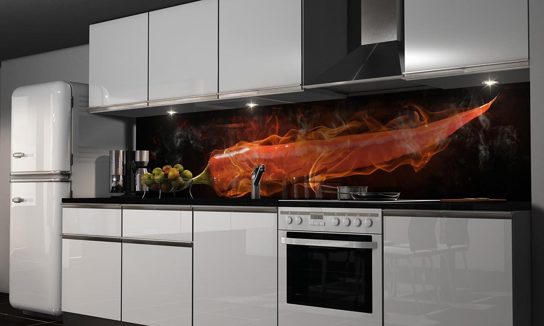 Küchenrückwand Folie selbstklebend | Heißer Chili | Klebefolie in ...
