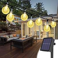 Kolpop Catena Luminosa Esterno, 30LED Luce Stringa Solari Lucine Led Decorative di Crystal Globe Impermeabile IP65…