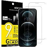 """NEW'C 2-pack skärmskydd med iPhone 12 Pro Max (6.7"""") – Härdat glas HD klar 9H hårdhet bubbelfritt"""