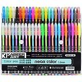 KABEER ART® 48 Pc Gel Pens set Color gel pens,Glitter, Metallic, Neon pens Set Good gift For Coloring Kids Sketching Painting