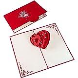 PaperCrush® Pop-Up Karte 3D Herz - Romantische Geburtstagskarte oder Weihnachtskarte für Sie und Ihn, Besondere…