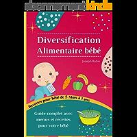 Diversification Alimentaire De Bébé: Guide complet avec menus et recettes pour votre bébé