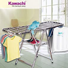 Kawachi Stainless Steel Foldable Butterfly Clothes Drying Stand (Steel)