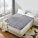 Luxear Surmatelas Anti-Statique Antiacarien Accumulation Thermique Confort Et Chaleur, Protege-Matelas en Fibre Polyester Lav