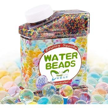 30000X Mélange de couleurs Cristal Sol Gel Perles Jelly Perle d'eau pour vase de remplissage, Orbeez recharge