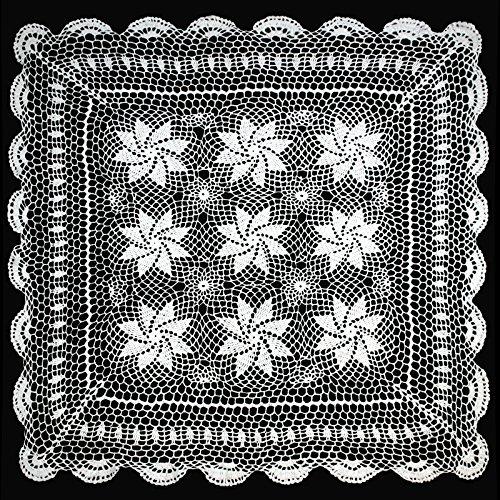 Altotux 76,2cm vintage crochet Lace Doilies tovaglietta bianco a mano in tessuto cucito Infradito colorati estivi, con finte perline