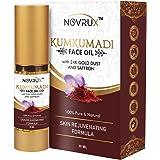 Novrux Kumkumadi Tailam for Face   Ayurvedic Beauty Night Serum   Pure Facial Oil   Kumkumadi Oil with Pure Saffron for Radia