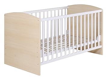 roba Kombi Kinderbett, 70x140 cm, Babybett 3-fach höhenverstellbar ...