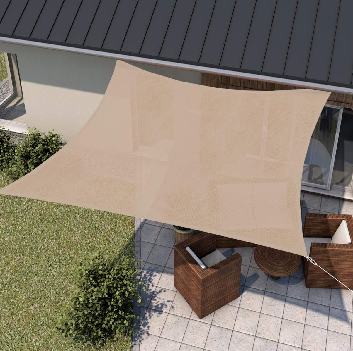 wip Sonnensegel als Sonnenschutz für Terrasse + Balkon I HDPE-Gewebe UV-stabil, atmungsaktiv I Form Größe Farbe