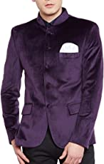 Wintage Men's Velvet Grandad Nehru Blazer Coat Jacket