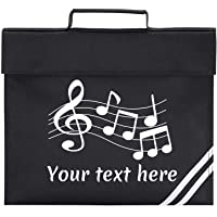 Custom School Bag in Black with Music Notes