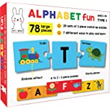 Play Poco Alphabet Fun Type 1 - 78 Piece Alphabet Matching Puzzle - 7 Different Ways to Play and Learn - Includes 78 Large Pu