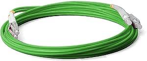 Lichtwellenleiter 2 Meter LWL Glasfaser-Kabel SC//APC-SC//APC Stecker Duplex 9//125 Patchkabel 2m OS2 gelb