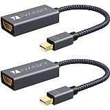 IVANKY Mini DisplayPort a HDMI [2-Pezzi] Adattatore Thunderbolt HDMI Maschio a Femmina Adattatore in Nylon Compatibile con Su