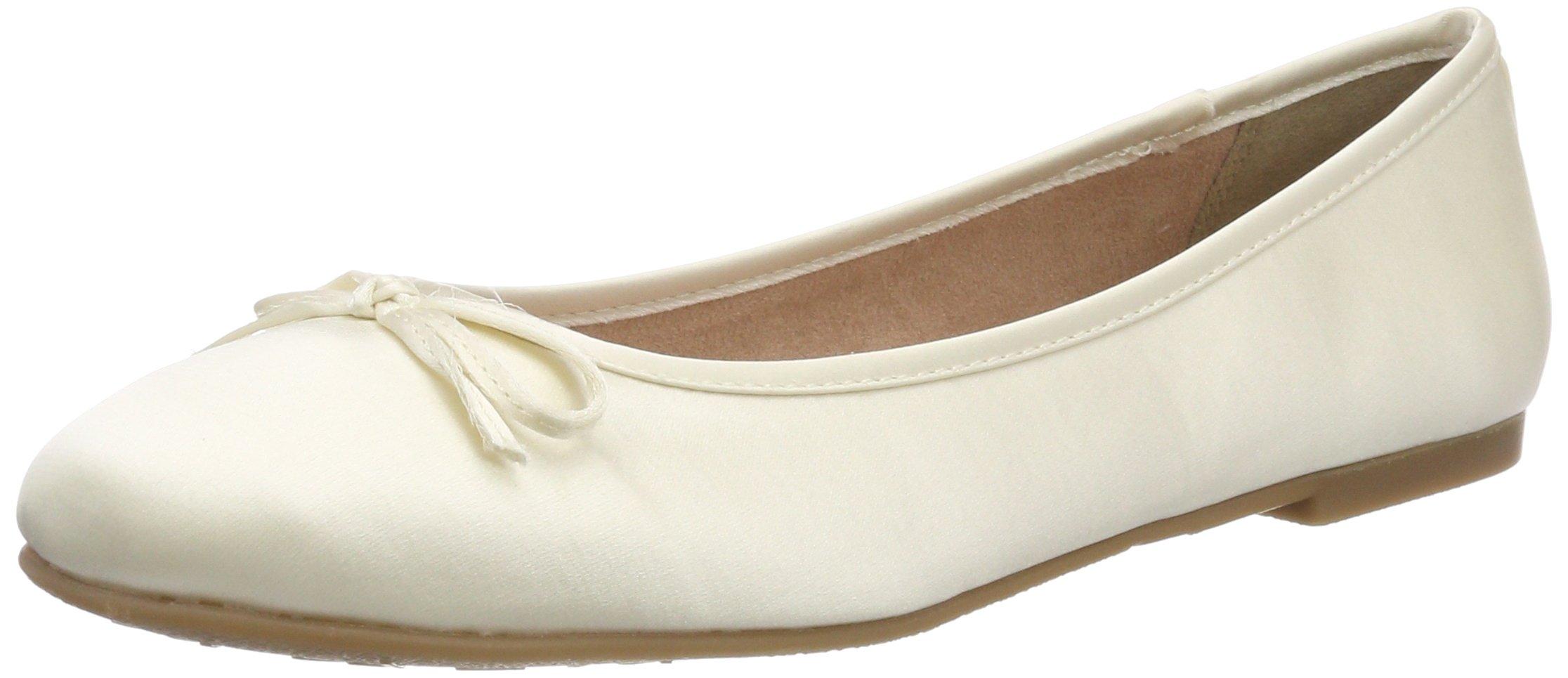 Tamaris Damen 22142 Geschlossene Ballerinas, Gold
