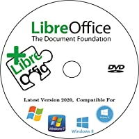 LibreOffice Home, Student, Professional & Business - Word & Excel Compatible Software for PC Microsoft Windows 10 8.1 8…