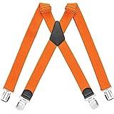 HBselect Bretelle Uomo con 4 Clip Bretelle Uomo Elastiche Accessori da Uomo Eleganti Bretelle Righe Vintage Adatto per Uomo e