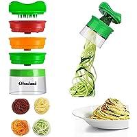 Spiralizzatore di Verdura con 3 lame   Ohadani Affettatrice multifunzione  tritacarne a spirale vegetale per il taglio di cetrioli e patate