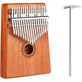 iheyfill Kalimba 17 llaves, Piano de pulgar, dedo piano, Mini Thumb Piano kalimba instrumento con protección para pulgar, mar