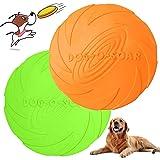 WELLXUNK Perros interactivos Frisbee, 2 Pcs Frisbee Perro, Juguete de Disco Volador para Perro, para Adiestramiento de Perros